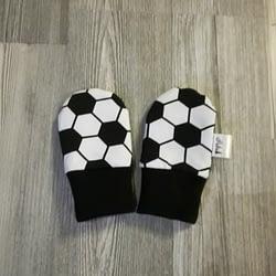 mustavalkoinen jalkapallo tumput vauva pubu