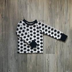 mustavalkoinen jalkapallo paita